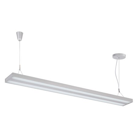 Lite Source Lael 1-Light LED Pendant, Silver Finish with Silver Metal Shade