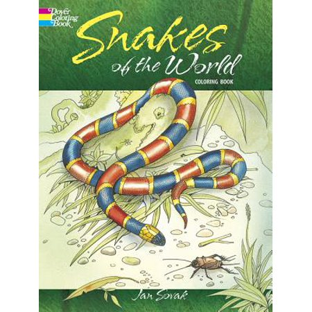 Snakes of the World Coloring Book (Most Poisonous Sea Snake In The World)