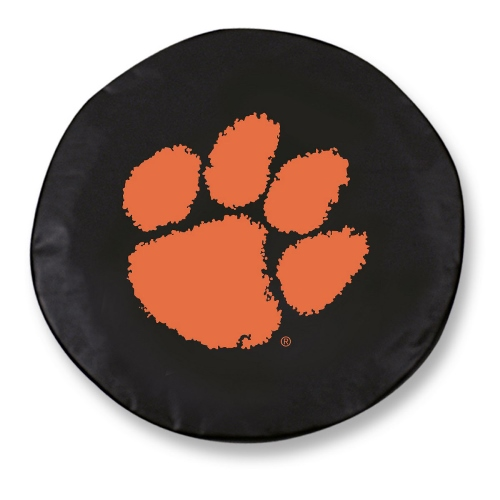 NCAA Tire Cover by Holland Bar Stool - Clemson, Black - 24 L x 8 D