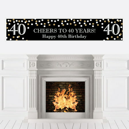 Adult 40th Birthday - Gold - Birthday Party Decorations Party Banner](40th Birthday Banners)