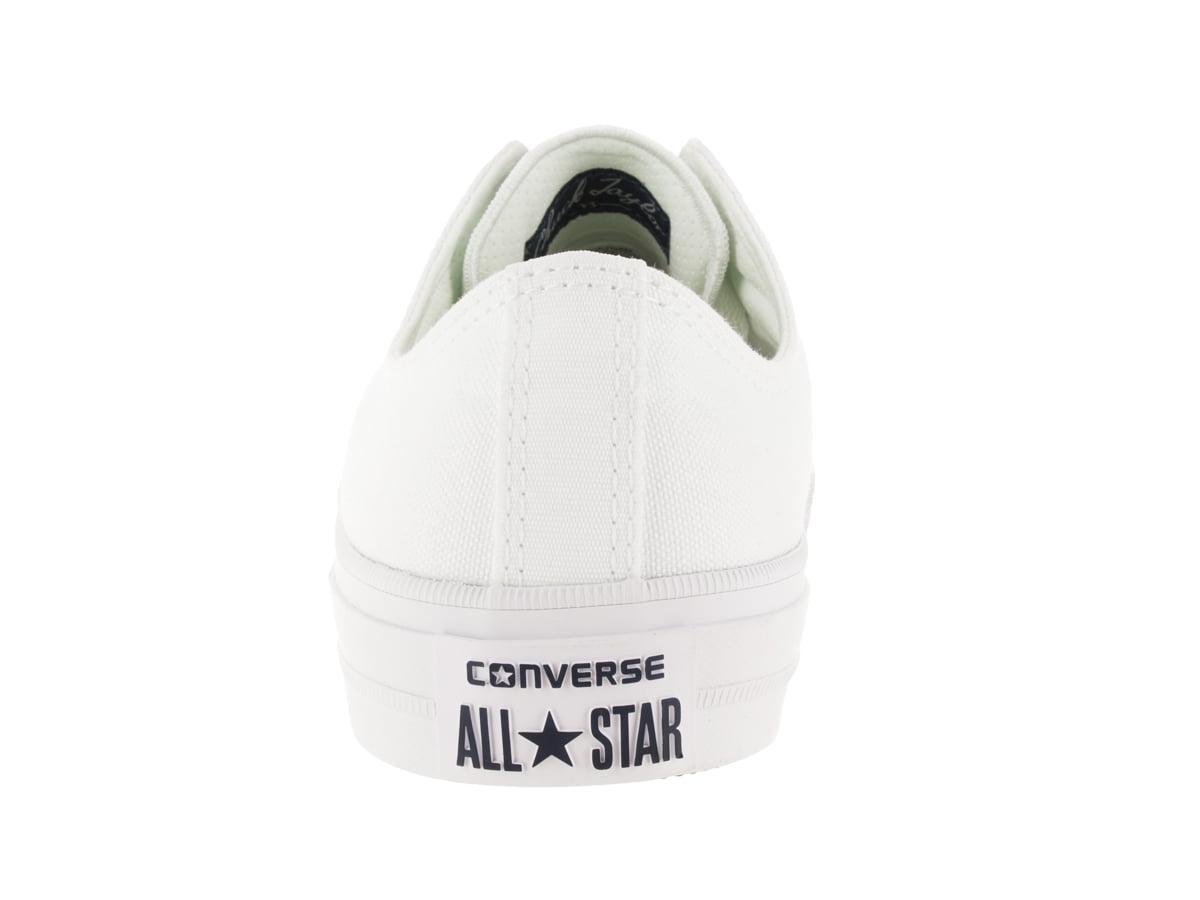 Converse Chuck Taylor Ii Ox White / Ankle-High Canvas Fashion Sneaker - 11M 9M