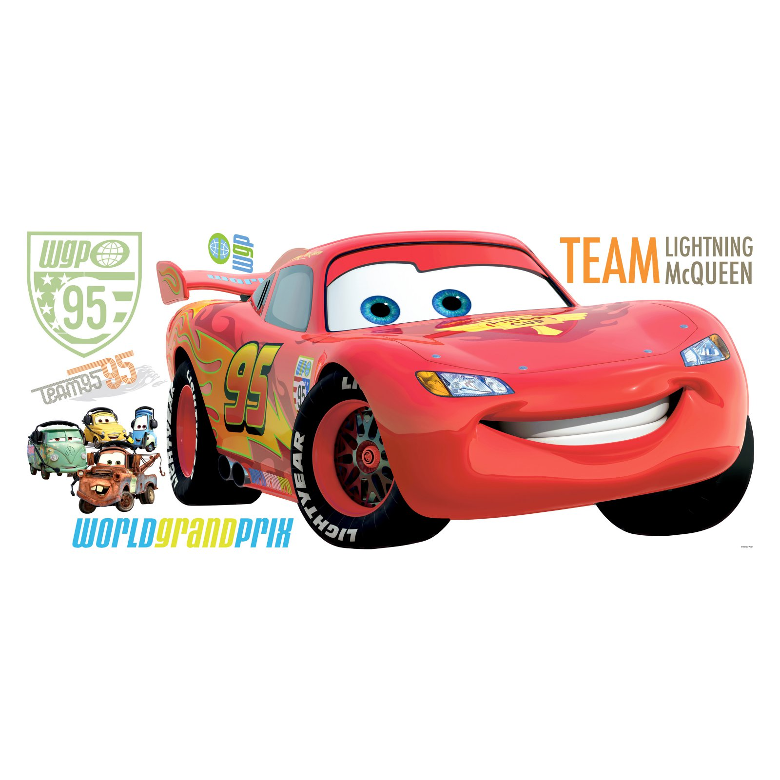 RoomMates Disney Pixar Cars 2 Peel & Stick Giant Wall Decal