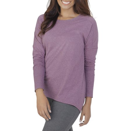 Women's Essentials Soft Long Sleeve Scoop Neck - Heather Rib Scoop Neck Tee