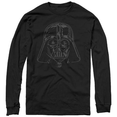 Star Wars Men's Darth Vader Helmet Long Sleeve T-Shirt](Darth Vader T Shirt)