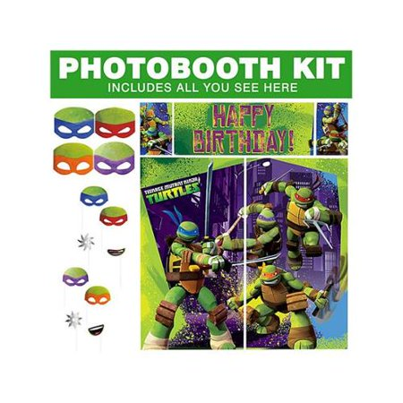 TMNT Photo Booth Kit - Party Supplies