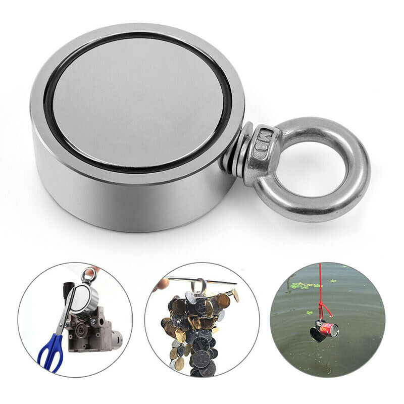 Ring Round Recovery Super Strong Neodymium Fishing Magnet 352LBS Pulling Force
