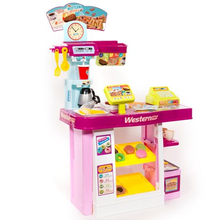 Ihubdeal Fast Food Musical Play Kitchen Set Pretend Toy For Kids With Tools
