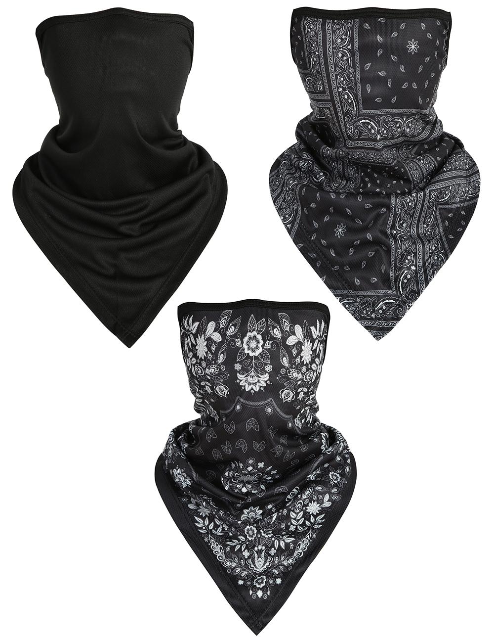Blackout American Flag Face Sun Scarf Muffler Balaclava Outdoor Scarf Headwear