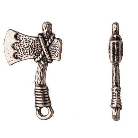 Drops/Charms, Hammer Axe Antique-Silver Plated 22x13mm Sold per pkg of 10pcs