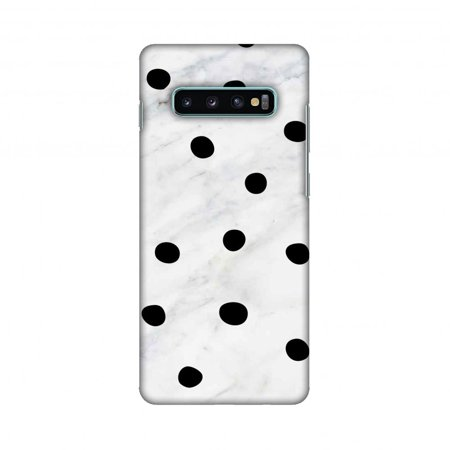 Samsung Galaxy S10+ Case, AMZER Ultra Slim Hard Shell Designer Printed Case for Samsung Galaxy S10+ - Lady Bug - Black And White Marble Dots