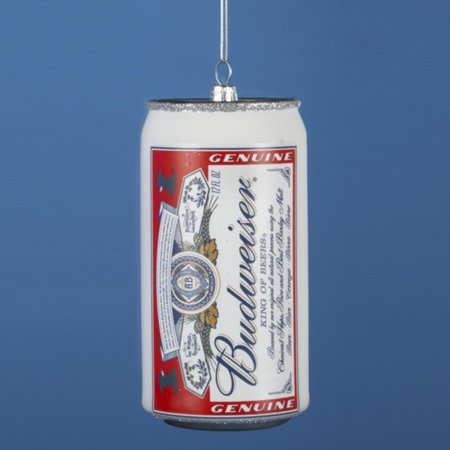 4 75   Happy Hour Anheuser Busch Budweiser Beer Can Christmas Ornament