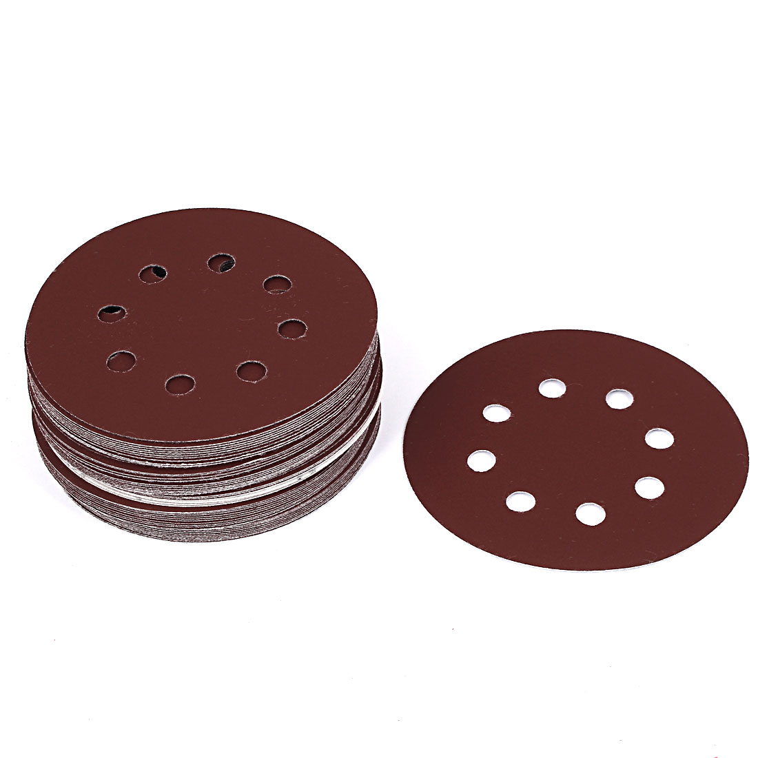 "5"" Dia 600 Grit 8 Holes Sanding Paper Disc Sandpaper 50pcs for Oscillating Tool"