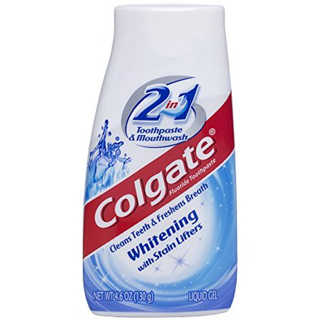 Colgate 2-in-1 Whitening Toothpaste Gel and Mouthwash - 4.6