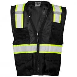 ML Kishigo B100 Enhanced Visibility Multi Pocket Mesh Vest Lime