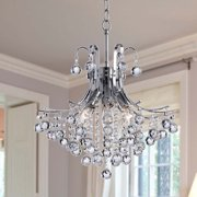 The Lighting Store Namika 6-light Crystal and Chrome Chandelier