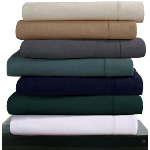 Luxury 200-GSM Cotton Flannel Hemstitched Pillowcases (Set of 2) King - White