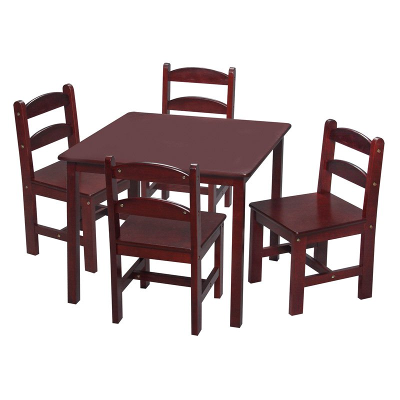 Gift Mark Square Table and Chair Set - 5 Piece
