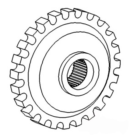 A155636 Trans Park Lock Gear For Case-IH Tractor Models