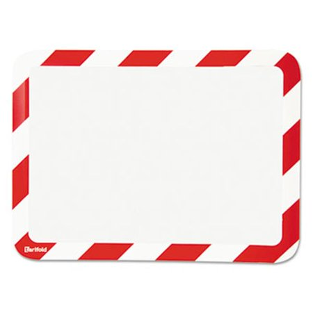Tarifold P194943 High Visibility Safety Frame Display Pocket-Magnet Back, 10. 25 x 14. 5, Red & White