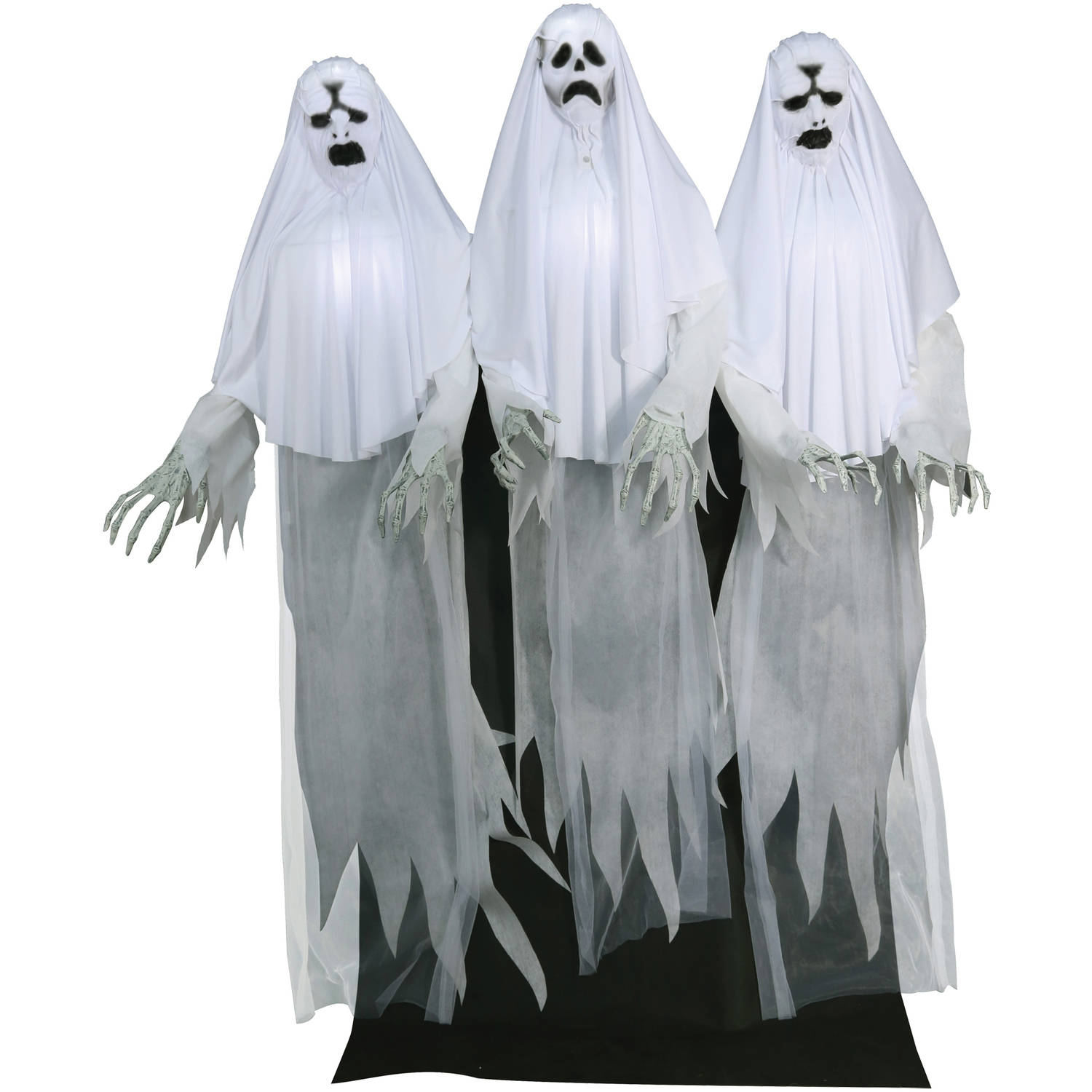 haunting ghost trio animated halloween decoration walmartcom - Animated Halloween Decorations