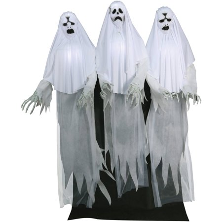 Haunting Ghost Trio Animated Halloween Decoration (Halloween Ghosts Diy)