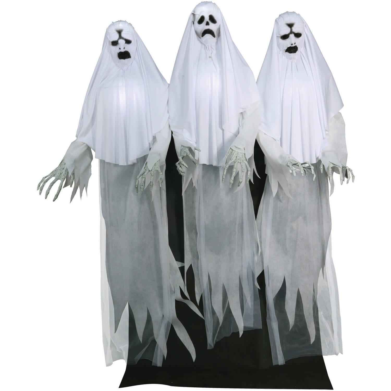 Haunting Ghost Trio Animated Halloween Decoration