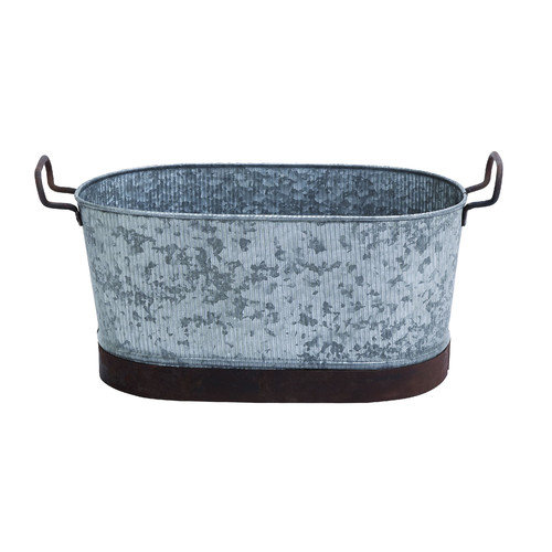 Woodland Imports Galvn Oval Beverage Tub