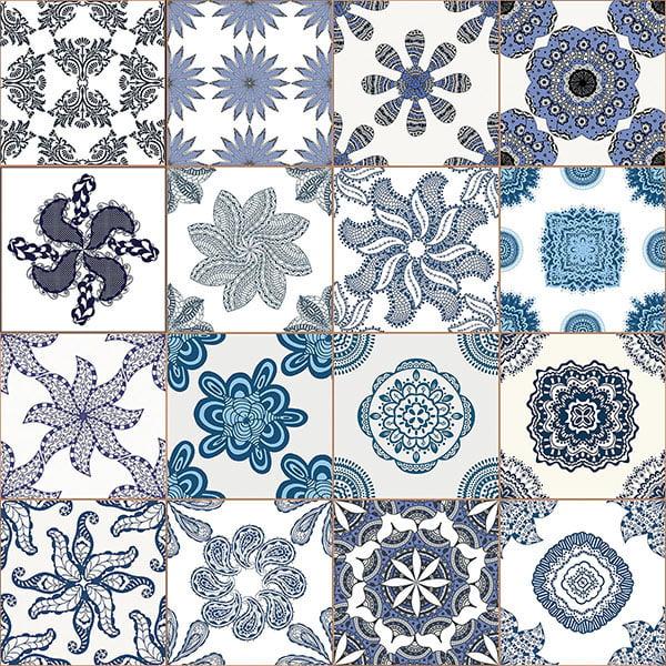 Blue Azulejos Premium Window Film