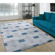 A2Z Paris 1940 Argyle Modern Geometric Abstract Large Soft Living Room Area Rug Tapis Carpet (3x5 4x6 5x7 5x8 7x9 8x10)