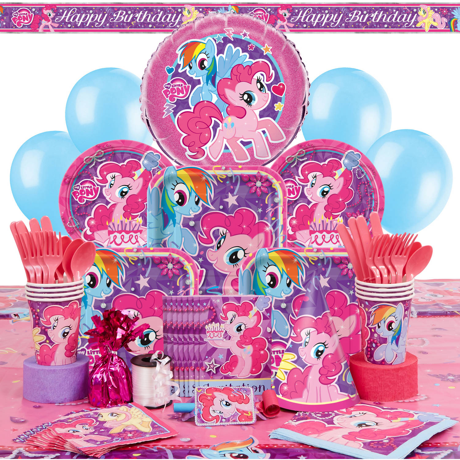 Deluxe My Little Pony Party Supplies Kit for 8 Walmartcom