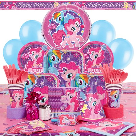 Deluxe My Little Pony Party Supplies Kit For 8 Walmart Com