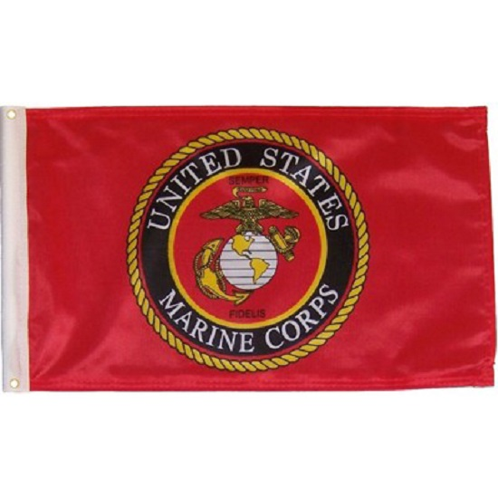US Marine Corps Patriotic 3 x 5 foot Flag 150 Denier Shine Polyester