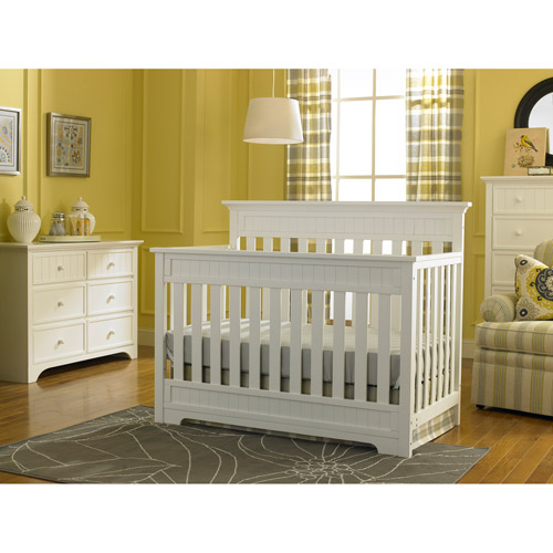 Fisher-Price Lakeland 5-in-1 Fixed-Side Convertible Crib, Choose Your Finish