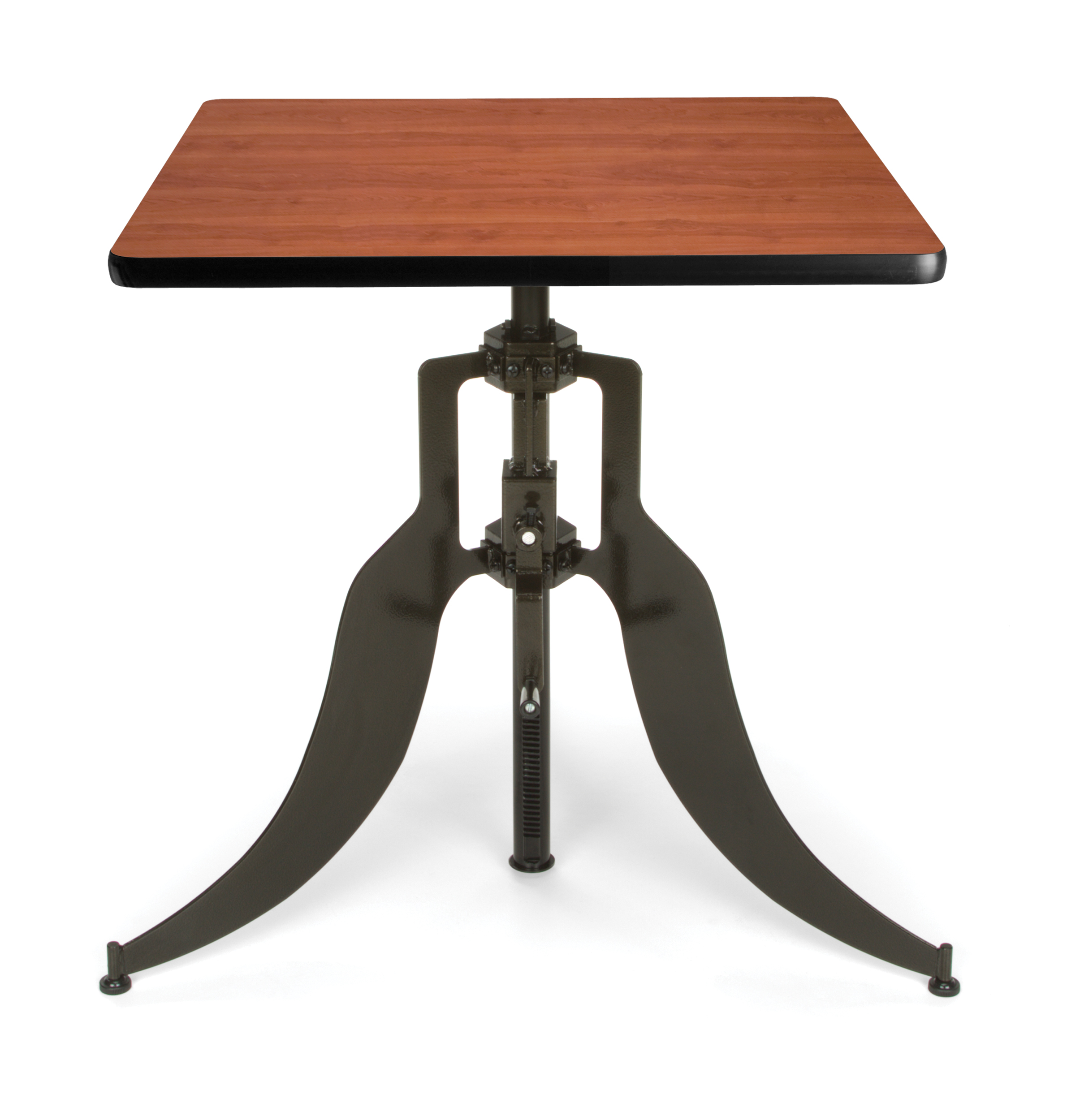 "OFM Endure Series Model AT30SQ 30"" Square Adjustable Height Table, Cherry"