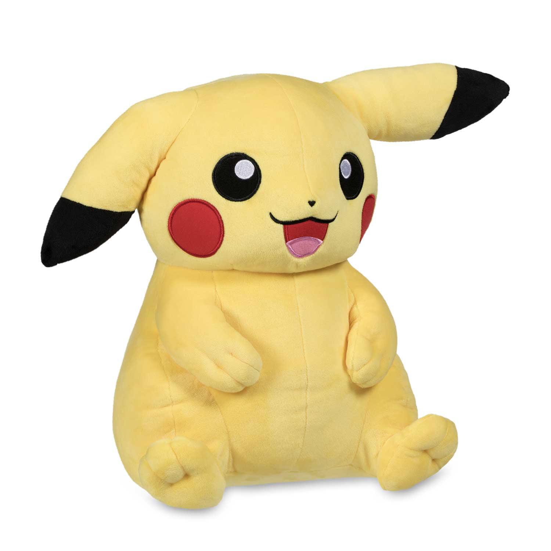"Pokemon Pikachu Wearing Tru Ash Trainer Hat Poké Plush (Trainer Size) 16"" by Pokemon"