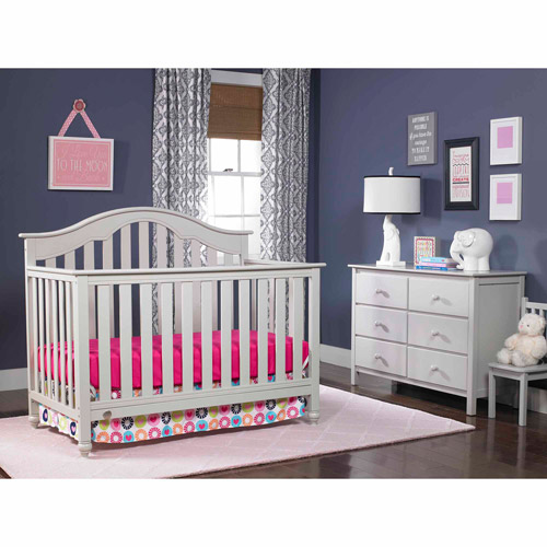 Fisher-Price Kingsport 4-in-1 Convertible Crib Collection, Misty Grey