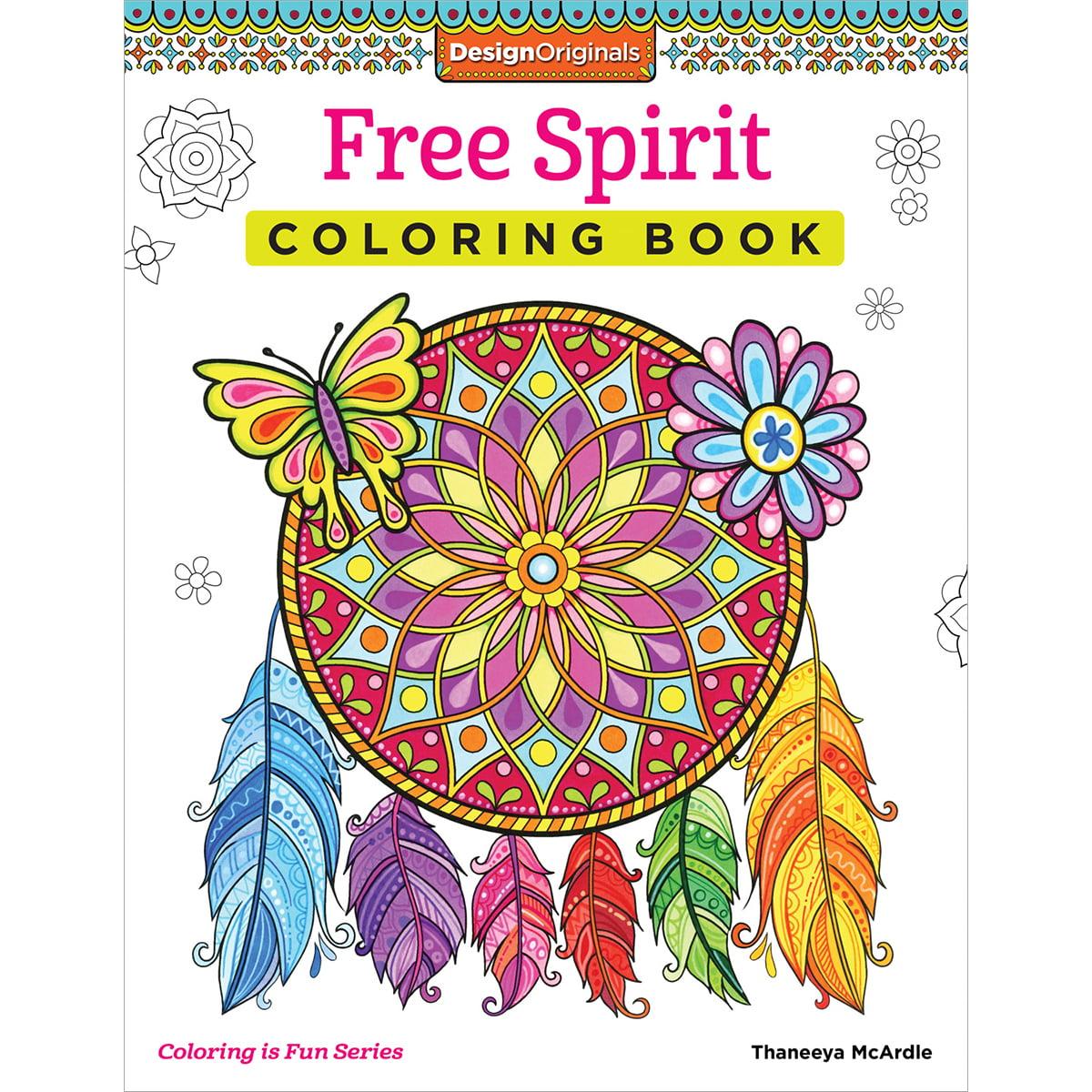 Design Originals Free Spirit Adult Coloring Book