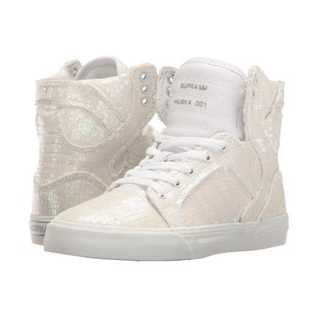 Supra Skytop Woman Shoes (SUPRA Skytop Youth / Kids | White Sequin (58002-161-M) )