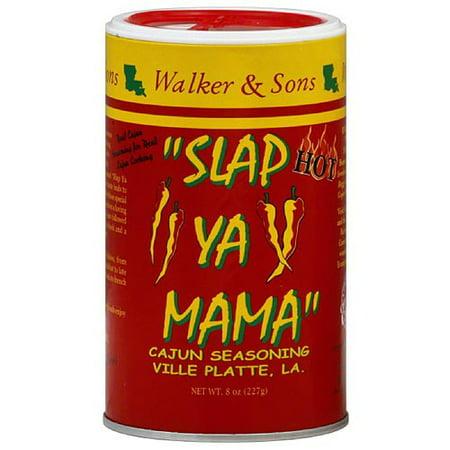 Hot Cajun Seasoning - Slap Ya Mama Hot Cajun Seasoning, 8 oz, (Pack of 12)