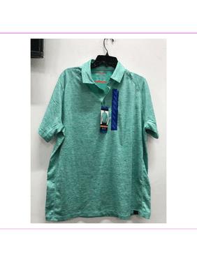 Hawkeandco mens Moisture wicking Short sleeve 3button placket Polo Shirt M/Pool