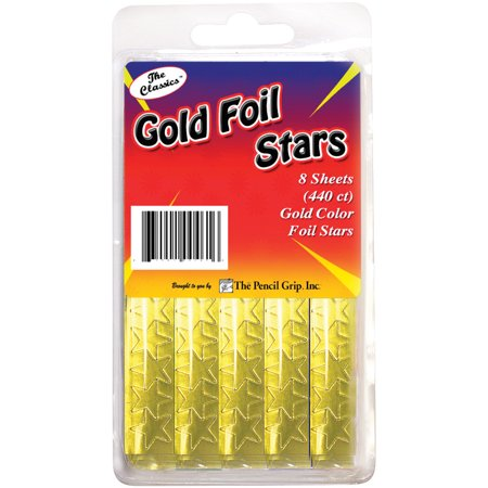 Foil Star Stickers 440/Pkg-Gold - Star Stickers