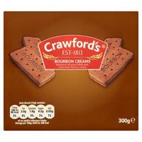 Crawford Bourbon Cream Biscuits 300g (Pack of 3)