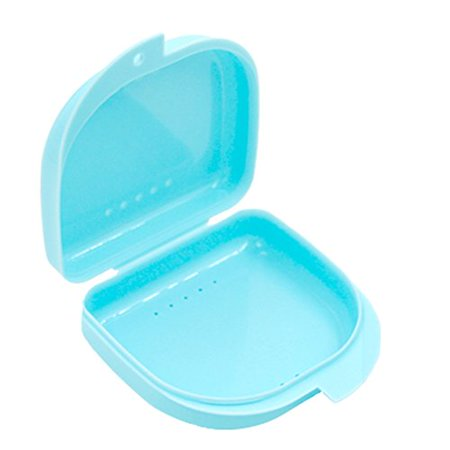 Wowlife Orthodontic Retainer Case Dental Container Denture Storage Boxes with Vent Holes (Green) - image 1 of 4