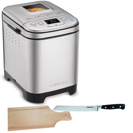 Cuisinart CBK-110 Compact Automatic Bread Maker (Silver) with Knife and