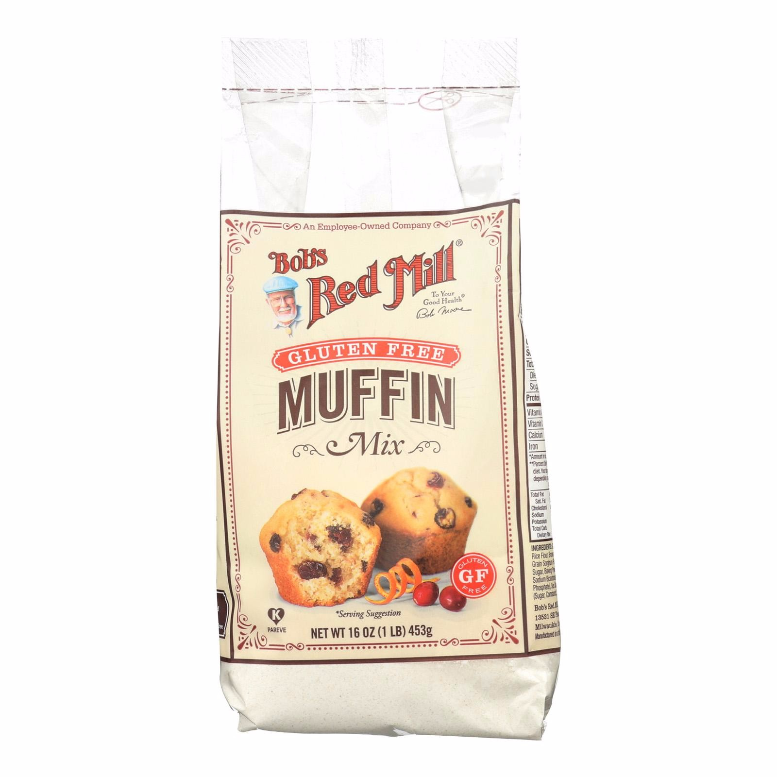 Bob's Red Mill Gluten Free Muffin Mix - 16 Oz - Pack of 4