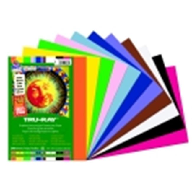 Tru-Ray Pacon Smart-Stack Sulphite Acid Free Non Toxic Construction Paper - 9 x 12 in. - Pack 240
