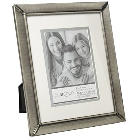 Darice 30028714 Pewter Picture Frame with Matting and Etched Design ()
