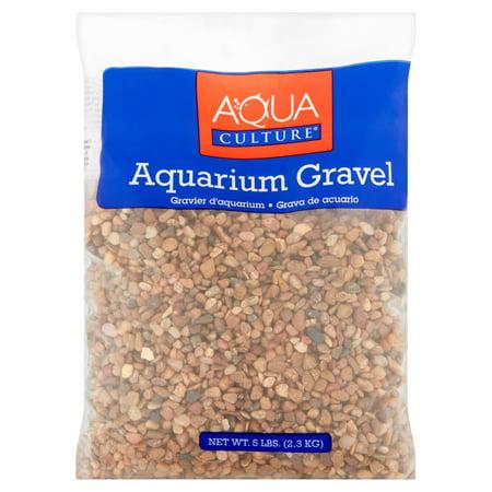 Saltwater Aquarium Gravel - Aqua Culture Small Pebbles Neutral Aquarium Gravel, 5 lb