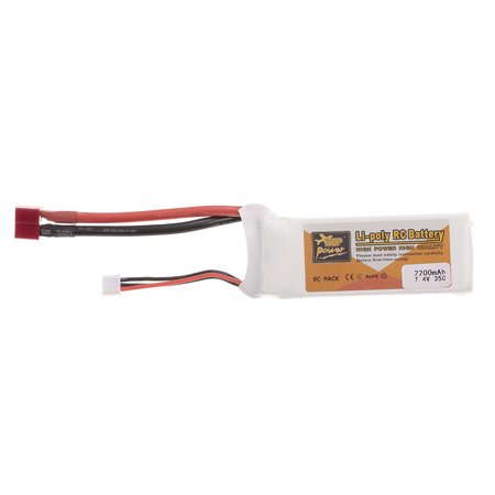 - ZOP POWER RC Li-Po Battery 7.4V 2200mAh 35C 2S Rechargeable with T Plug for RC Drone Car Boat Helicopter Airplane