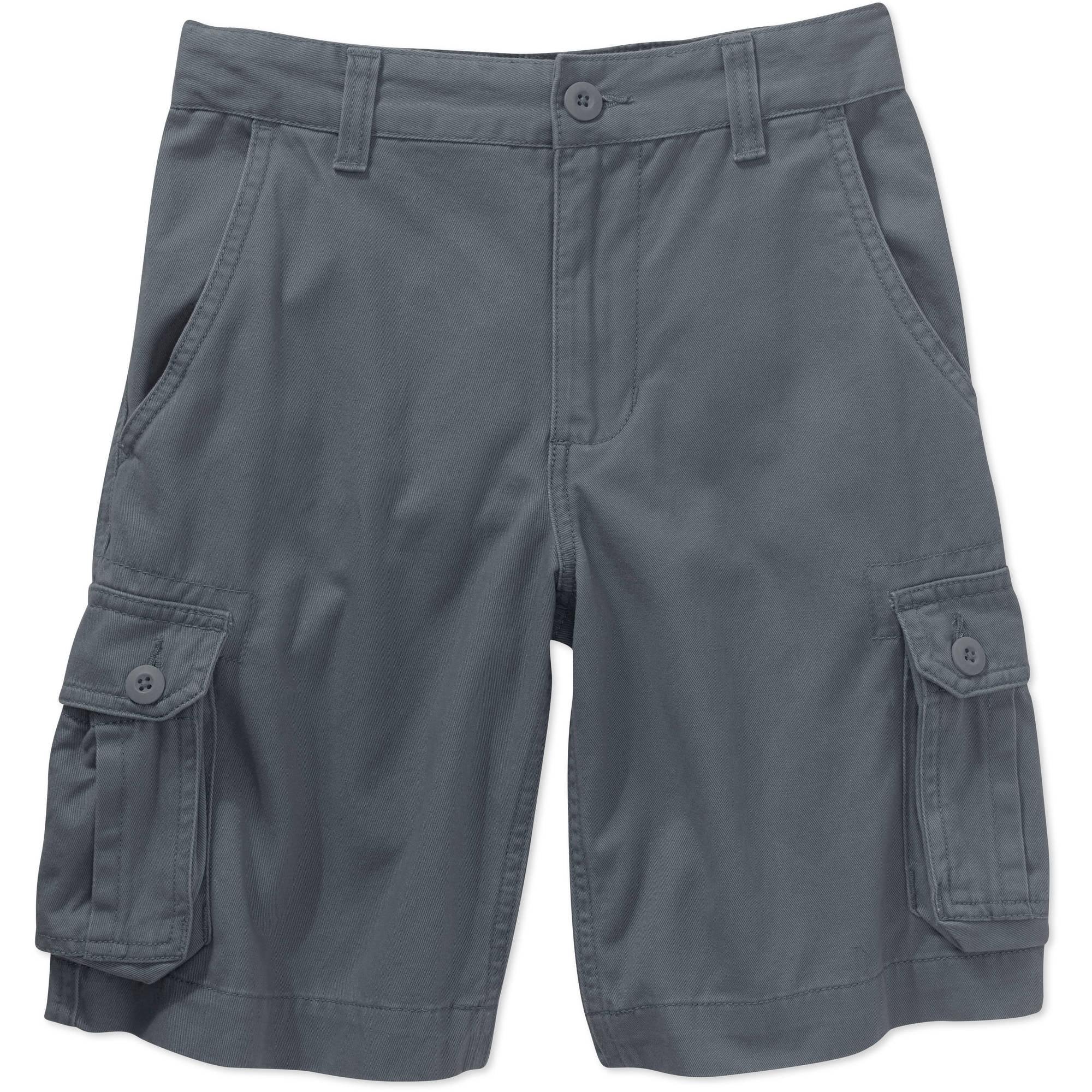 Faded Glory Boys Solid Cargo Shorts